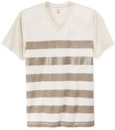 INC International Concepts Men's Metallic-Stripe T-Shirt, Only at Macy's