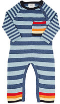 Lucky Jade Striped Coverall-BLUE