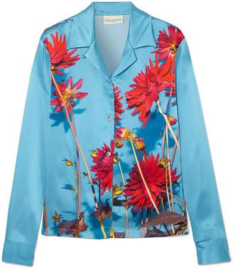 Dries Van Noten Copine Floral-print Silk-satin Shirt