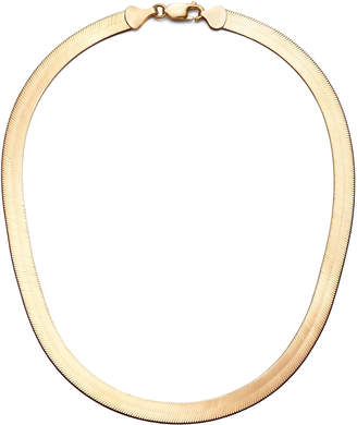 Lana 14k Gold Wide Herringbone Choker Necklace