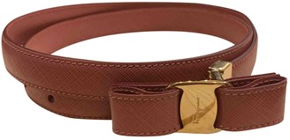 Salvatore Ferragamo Pink Leather Belts