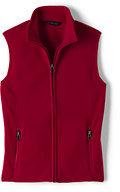 Lands' End Women's Fleece Vest-Red