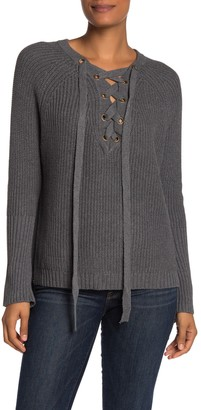 Blvd Lace-Up Sweater