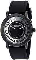 Stuhrling Original Women's Quartz Watch with Black Dial Analogue Display and Black Silicone Strap 830.03