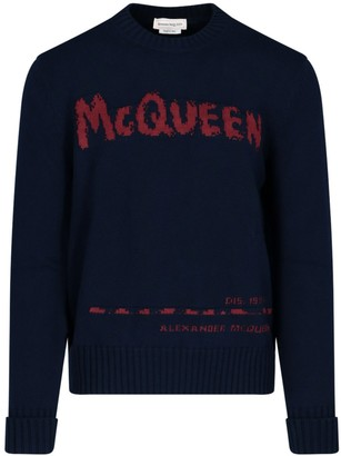 Alexander McQueen Graffiti Logo Knitted Sweater