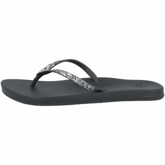 Reef Women's Sandals Cushion Bounce Stargazer | Glitter Flip Flops for Women With Cushion Bounce Footbed