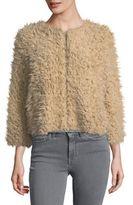 BB Dakota Faux Fur Cropped Jacket