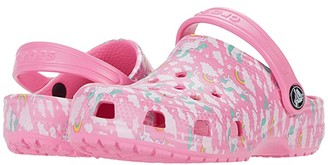 Crocs Classic Majestic Creature Clog (Toddler/Little Kid) (Pink Lemonade) Girl's Shoes