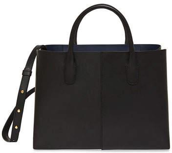 Mansur Gavriel Large Folded Vegetable-Tanned Leather Shoulder Bag