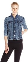 Marc New York Performance Women's French Terry Distressed Denim Jean Jacket