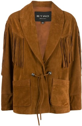 Etro fringed band detail jacket