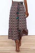 Raga Boho Print Midi Skirt