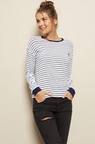 Garage Long Sleeve Stripe Sweatshirt Tee