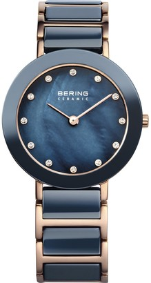 Bering Time Women's Analogue Quartz Stainless Steel Coated 11429767