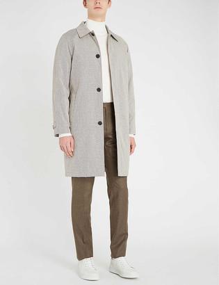Reiss Takasada check-patterned cotton-blend coat