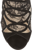 Jimmy Choo Fonda suede and lace sandals
