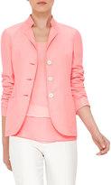 Akris Ingwer Three-Button Jacket, Rose