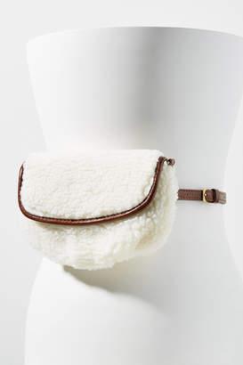 Anthropologie Emma Convertible Shearling Belt Bag
