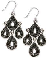 Lucky Brand Silver-Tone Tribal Chandelier Earrings