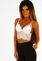 Pink Boutique Monaco White Lace Sheer Bralet