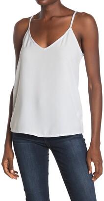 Femme By Design Solid V-Neck Crepe Camisole