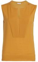 Akris Punto Sleeveless Wool Vented Knit Top