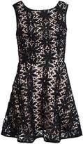 Quiz **Quiz Crochet Pearl Skater Dress