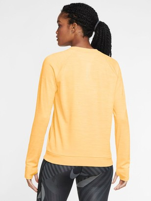 Nike Running Long Sleeve Pacer Crew Top - Melon