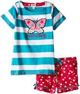 Hatley Electric Butterfly Button Tee & Shorts Set (Toddler/Little Kids/Big Kids)