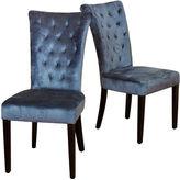 Asstd National Brand Ashlin Set of 2 Tufted Velvet Dining Chairs