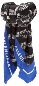 Balenciaga Silk Twill Wrapped Cuff - Womens - Blue