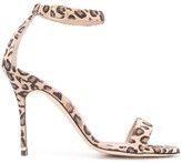 Manolo Blahnik Chaos leopard print sandals
