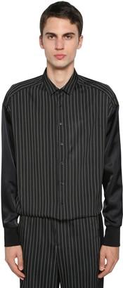 Neil Barrett Pinstripe Viscose & Acetate Shirt Jacket