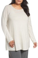 Eileen Fisher Plus Size Women's Jewel Neck Tunic Sweater
