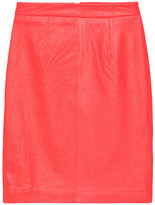 Milly Neon leather pencil skirt