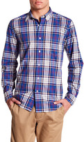 Nautica Long Sleeve Plaid Poplin Shirt