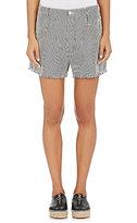 Alexander Wang Women's Striped Frayed Shorts-CREAM