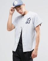 Brixton Varsity Shirt With Logo In Regular Fit