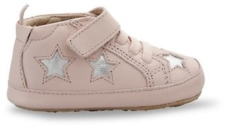 Old Soles Baby Girl's Star Leather Sneakers