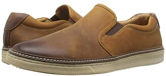 Johnston & Murphy McGuffey Casual Slip-on Sneaker (Tan Oiled Full Grain) Men's Slip on Shoes