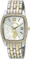 U.S. Polo Assn. Women's Quartz Metal and Alloy Casual Watch, Color:Two Tone (Model: USC40245AZ)