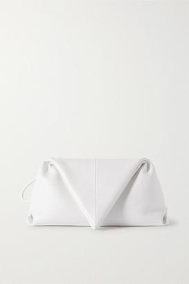 Bottega Veneta Trine Leather Clutch - White
