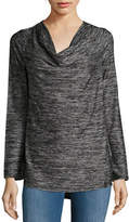 Marc New York Performance Knit Cowl Neck Top