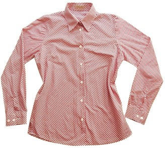 Sand Red Cotton Top for Women