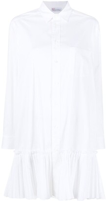 RED Valentino Ruffle-Trim Shirt Dress