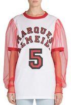 Marques Almeida Marques'Almeida Puff-Sleeve Printed Shirt