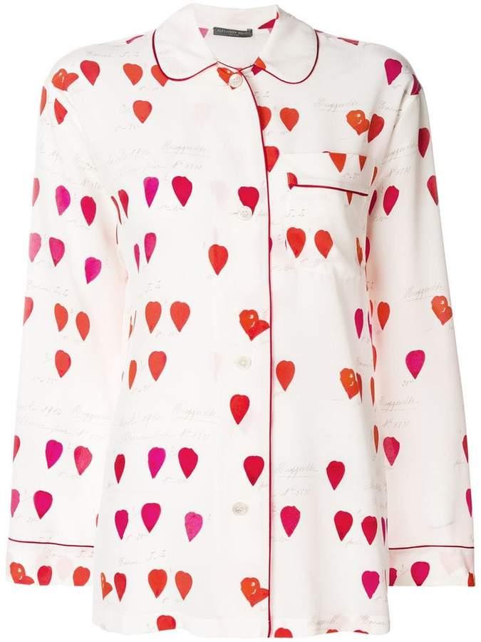 Alexander McQueen petal print pyjama shirt