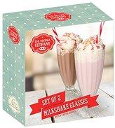 The Vintage Company 19 x 9 x 20 cm Sundae Dessert or Milkshake Glasses, Pack of 2