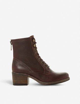 Bertie Painter grained-leather heeled ankle boots
