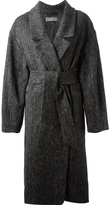Christophe Lemaire tweed wrap coat